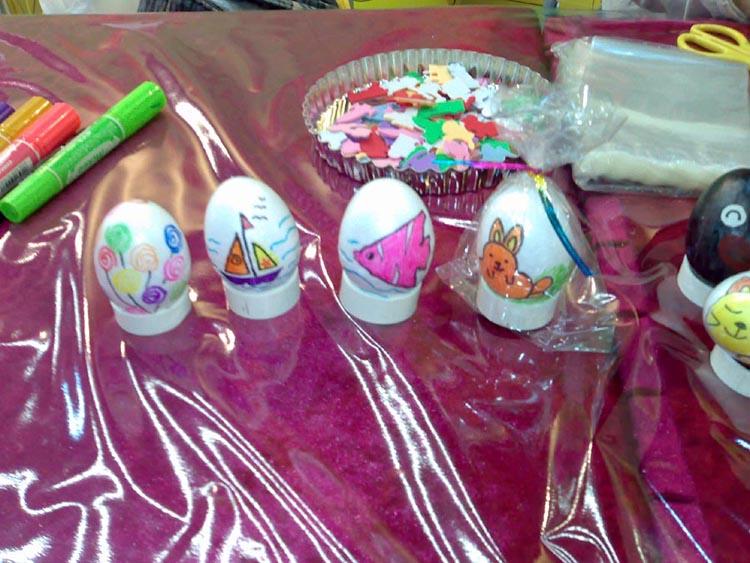 彩带花制作图解; 复活节朱古力蛋;