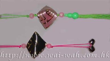 彩带凤凰制作 彩带织粽饰物