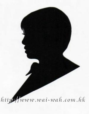 人像剪纸 silhouette                                        金线